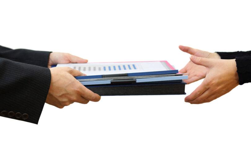 Акт приема-передачи документов 2020